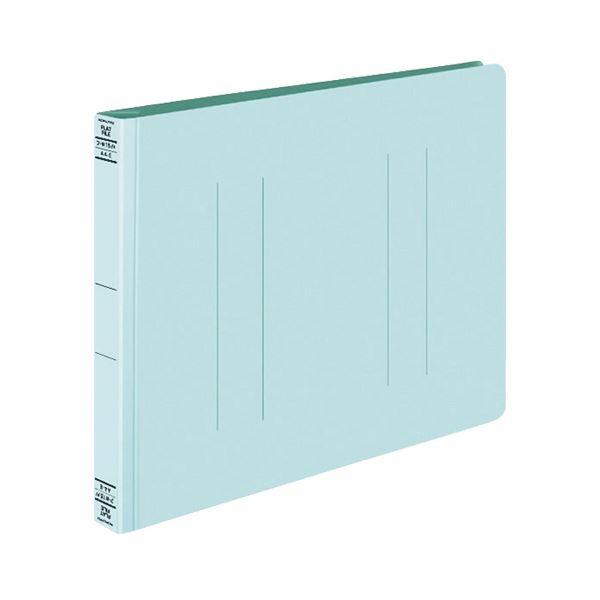 (まとめ) コクヨ フラットファイルW(厚とじ) A4ヨコ 250枚収容 背幅28mm 青 フ-W15B 1セット(10冊) 【×10セット】