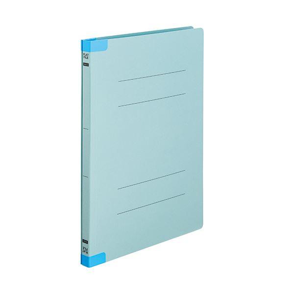 (まとめ) TANOSEEフラットファイル(背補強タイプ) A4タテ 150枚収容 背幅18mm ブルー1セット(30冊:10冊×3パック) 【×10セット】