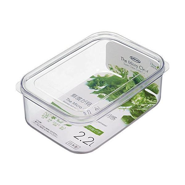 (まとめ) マイクロクリア フードケース/保存容器 【LLサイズ 2200ml】 ナチュラル 食洗機可 キッチン用品 【×40個セット】