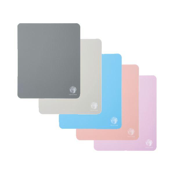 (まとめ) サンワサプライ ベーシックマウスパッド 5色カラーミックス ブラック・ブルー・グレー・ピンク・バイオレット MPD-OP54AT 1セット(5枚:各色1枚) 【×10セット】