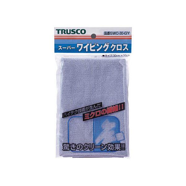 (まとめ)TRUSCO スーパーワイピングクロス300×300mm グレー SWC-30-GY 1枚【×10セット】