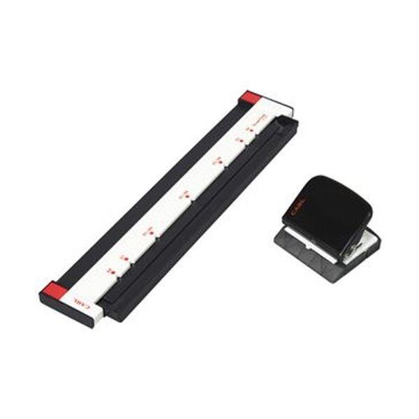 (まとめ)カール事務器 ゲージパンチ ブラックGP-2630-K 1台【×5セット】