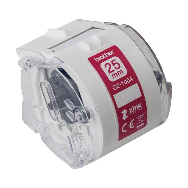 (まとめ)ブラザー 感熱フルカラーラベルプリンターピータッチカラー用ロールカセット 25mm幅×長さ5m CZ-1004 1個【×2セット】