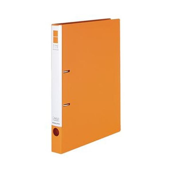 (まとめ)コクヨ リングファイル(スリムスタイル)A4タテ 2穴 220枚収容 背幅33mm オレンジ フ-URF430YR 1冊【×50セット】