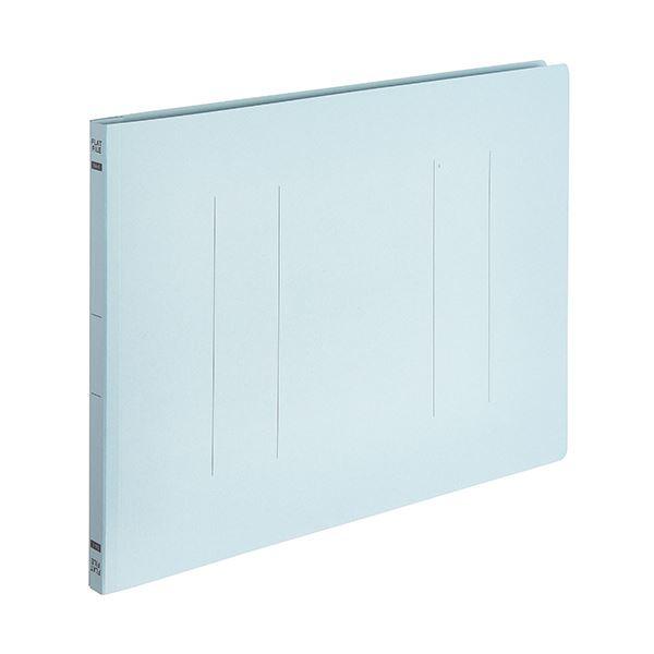 (まとめ) TANOSEEフラットファイルE(エコノミー) B4ヨコ 150枚収容 背幅18mm ブルー 1パック(10冊) 【×30セット】