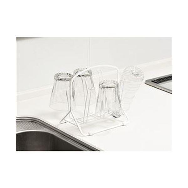 (まとめ)高儀 グラススタンド ホワイト 1個【×10セット】