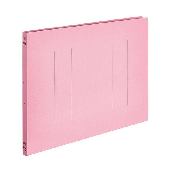 (まとめ) TANOSEEフラットファイルE(エコノミー) B4ヨコ 150枚収容 背幅18mm ピンク 1パック(10冊) 【×30セット】