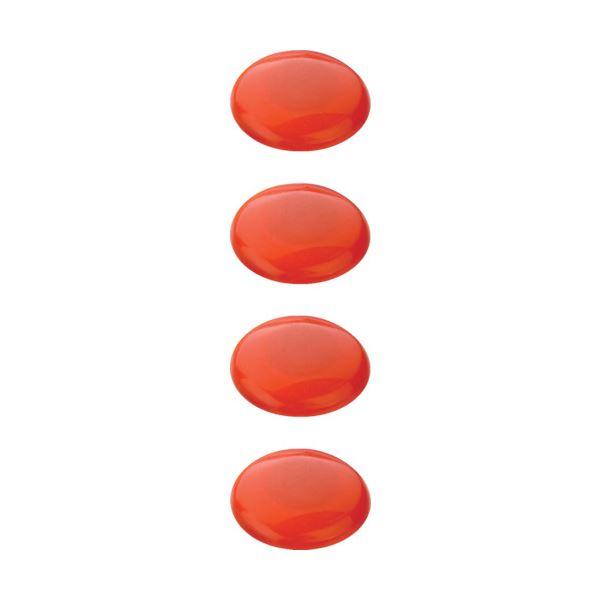 (まとめ) TRUSCO カラーマグネット 赤40パイ TCM-404-R 1パック(4個) 【×50セット】