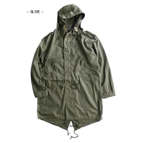 アメリカ軍「M-51」青島ライナーモッズコートシェル リバイバルモデル オリーブ《XXXSサイズ(日本対応サイズS相当)》