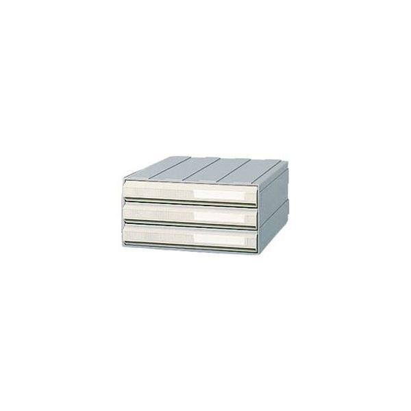 (まとめ)サカセ化学工業 ビジネスカセッター A43段 グレー A4-243A 1台【×3セット】