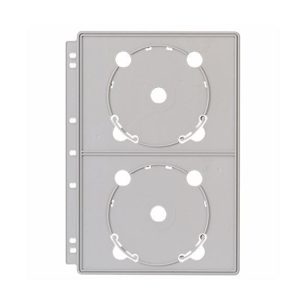 (まとめ) ライオン事務器 CDポケットバインダー追加用ポケット A4 2・3・4穴 両面4ポケット CD-P4 1枚 【×30セット】