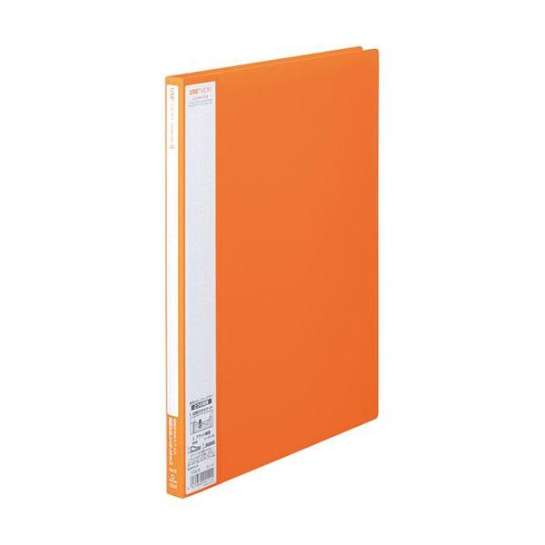(まとめ)キングジム ユーズナブルクリアーファイル A4タテ 20ポケット 背幅15mm オレンジ 133USオレ 1冊 【×30セット】