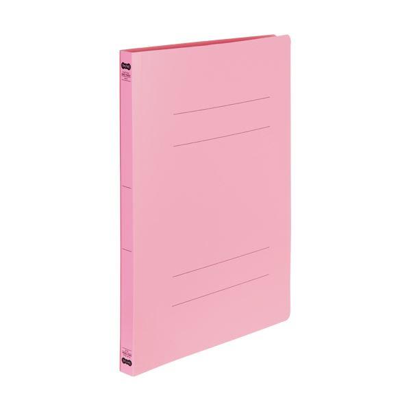 (まとめ) TANOSEE書類が出し入れしやすい丈夫なフラットファイル「ラクタフ」 A4タテ 150枚収容 背幅20mm ピンク1パック(5冊) 【×10セット】
