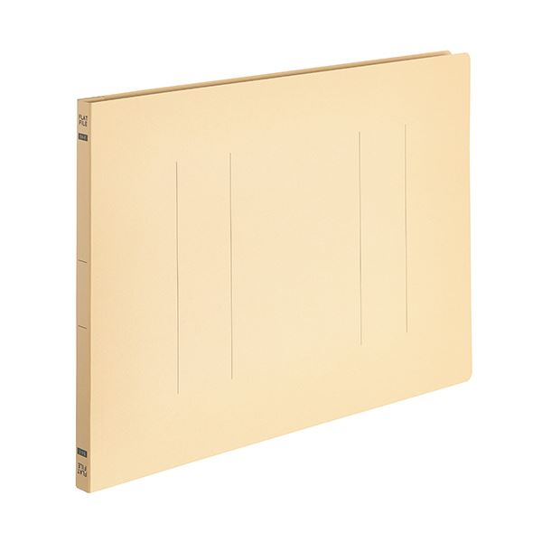 (まとめ) TANOSEEフラットファイルE(エコノミー) B4ヨコ 150枚収容 背幅18mm イエロー 1パック(10冊) 【×30セット】