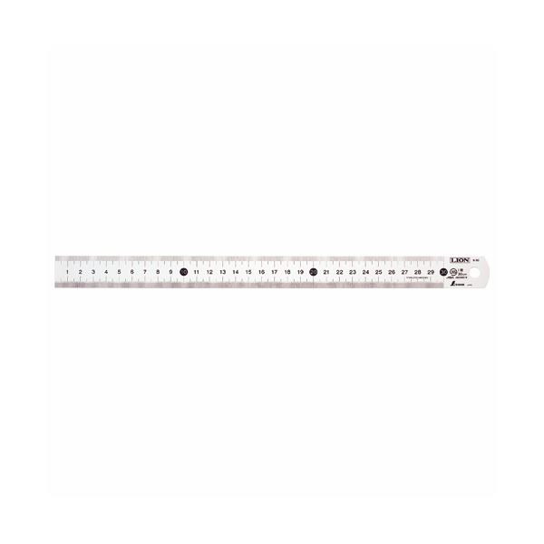 ライオン事務器 ステンレス直線定規100cm S-100 1セット(10本)