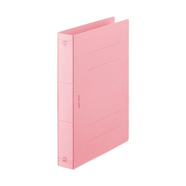 (まとめ) ライオン事務器 フラットファイルA4タテ ピンク AX-516S-10P 1パック(10冊) 【×10セット】