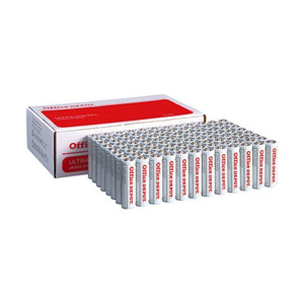 (まとめ)オフィスデポ オリジナル アルカリ乾電池(エコノミー) 単3形 1箱(96本)【×3セット】