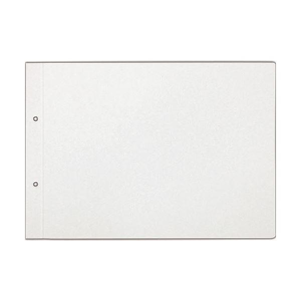 (まとめ) TANOSEE 板目表紙 A4ヨコ 2穴 業務用パック 1パック(50組100枚) 【×5セット】