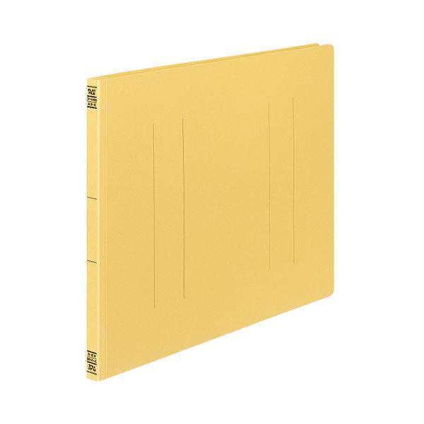(まとめ) コクヨ フラットファイルV(樹脂製とじ具) A3ヨコ 150枚収容 背幅18mm 黄 フ-V48Y 1パック(10冊) 【×10セット】