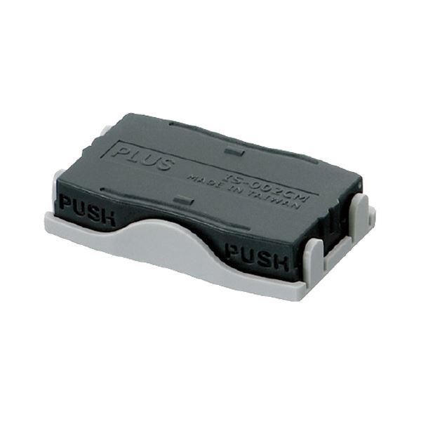 プラス 個人情報保護スタンプ早撃ちケシポン 専用インクカートリッジ IS-002CM 1セット(10個) 【×10セット】