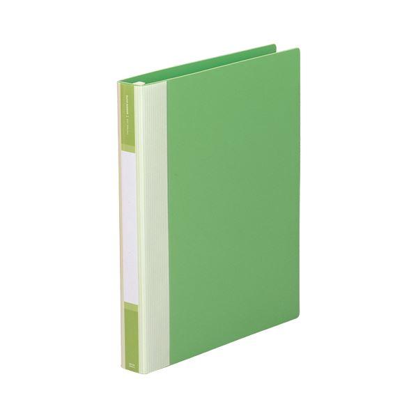 (まとめ) リヒトラブ リクエスト リフィルバインダーMTL A4タテ 30穴 80枚収容 背幅35mm 黄緑 G3902-6 1冊 【×10セット】