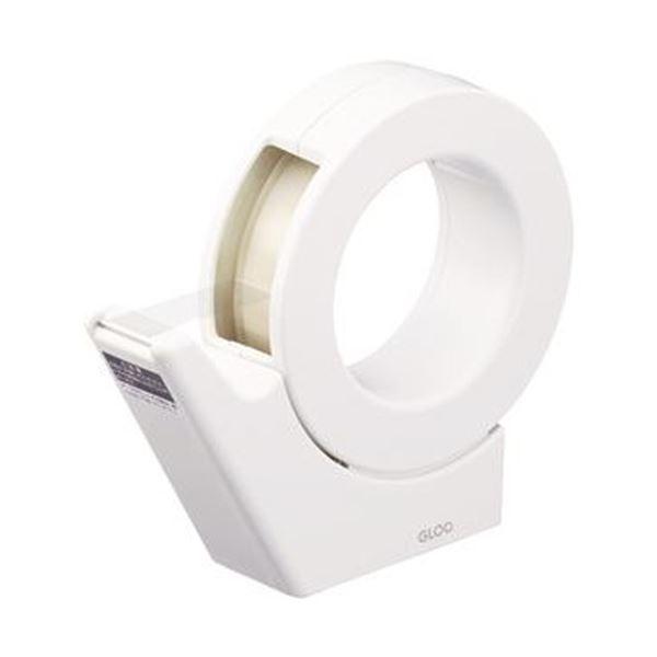 (まとめ)コクヨ グルーテープカッター(吸盤ハンディタイプ・大巻)白 T-GM500W 1個【×10セット】