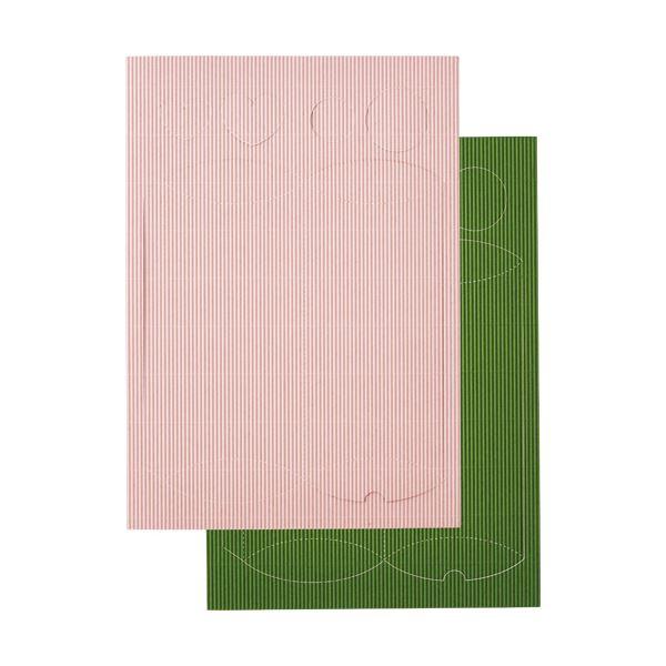 (まとめ) ヒサゴ リップルボード 薄口 型抜きギフトBOX ピンク・グリーン RBUT4 1パック 【×30セット】