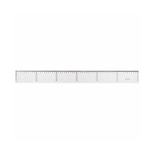ライオン事務器 アクリル直線定規60cm A-20 1セット(10本)