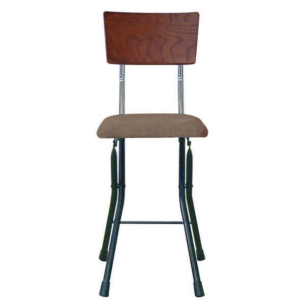 折りたたみ椅子 【同色2脚セット ダークブラウン×ブラック×ブラック】 幅32cm 日本製 スチールパイプ 『アッシュウッドチェア』【代引不可】