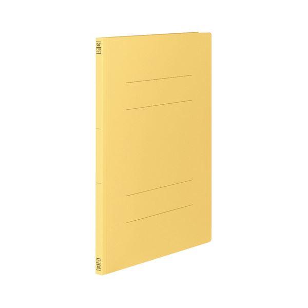 (まとめ) コクヨ フラットファイルV(樹脂製とじ具) A3タテ 150枚収容 背幅18mm 黄 フ-V43Y 1パック(10冊) 【×10セット】