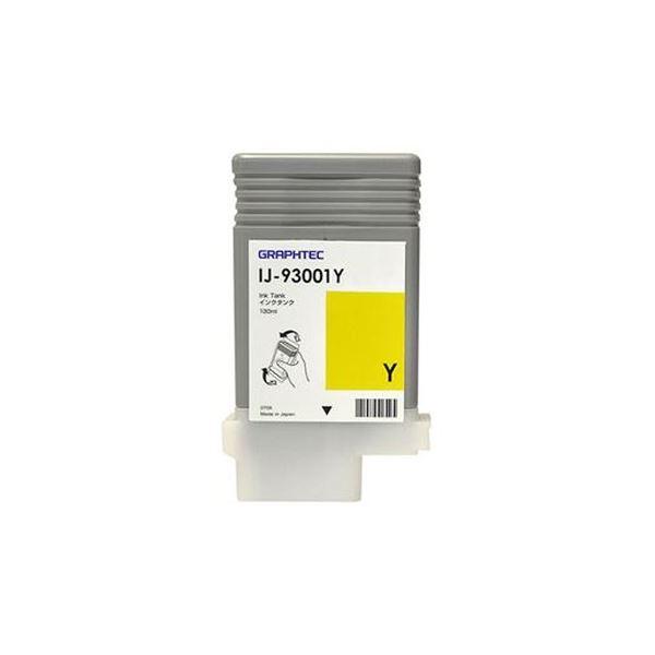 (まとめ)グラフテック インクタンク イエロー130ml IJ-93001Y 1個【×3セット】