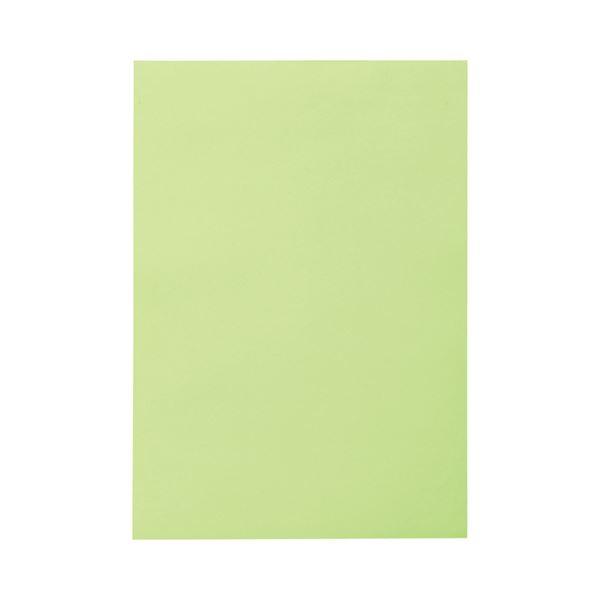 (まとめ) TANOSEE 色画用紙 四つ切 わかくさ 1パック(10枚) 【×30セット】