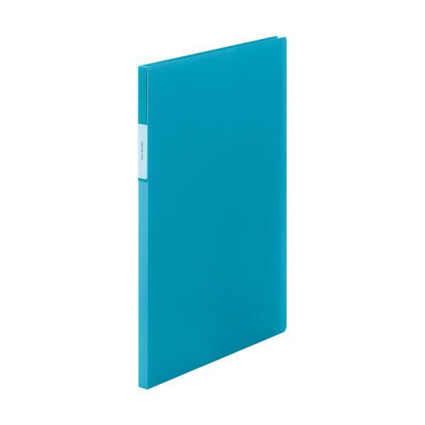 (まとめ) キングジム FAVORITESクリアーファイル(透明) A4タテ 20ポケット 背幅12mm 水色 FV166Tミス 1冊 【×30セット】