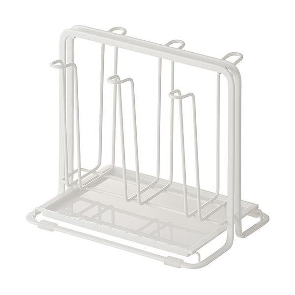 (まとめ) グラススタンド/コップスタンド 【トレー付き】 Wコート キッチン用品 『Nポゼ』 【24個セット】