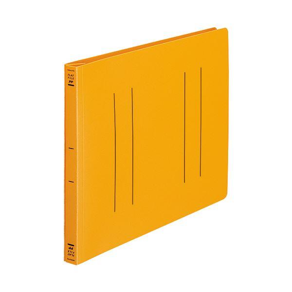 (まとめ) コクヨ フラットファイル(PP) A4ヨコ 150枚収容 背幅20mm オレンジ フ-H15YR 1セット(10冊) 【×10セット】