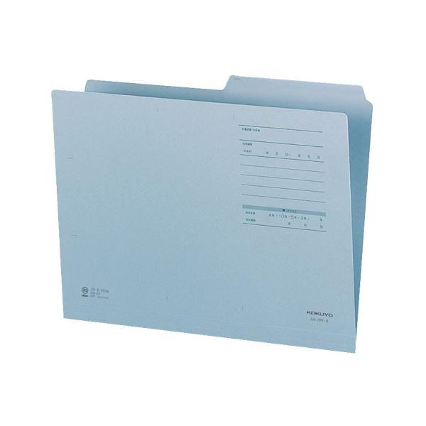 (まとめ)コクヨ 1/2カットフォルダー(カラー・Fタイプ)A4 青 A4-2FF-B 1セット(10冊)【×10セット】