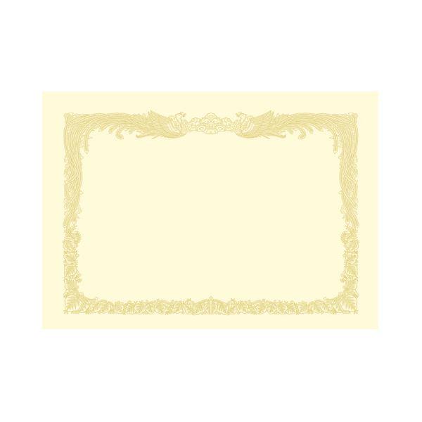 (まとめ) タカ印 OA賞状用紙 クリーム A3 タテ書用 10-1087 1冊(10枚) 【×10セット】