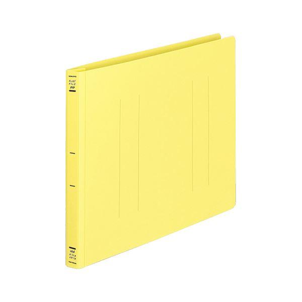 (まとめ) コクヨ フラットファイル(PP) A4ヨコ 150枚収容 背幅20mm イエロー フ-H15Y 1セット(10冊) 【×10セット】