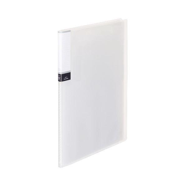 (まとめ) TANOSEE クリアブック(透明表紙) A4タテ 12ポケット 背幅8mm クリア 1セット(10冊) 【×10セット】