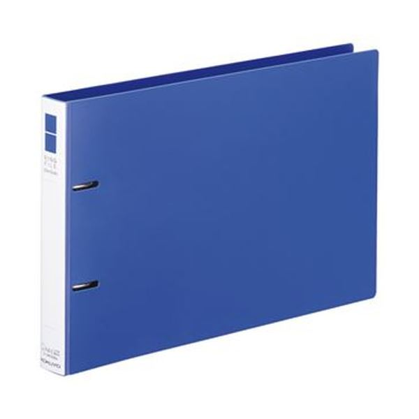 (まとめ)コクヨ リングファイル(スリムスタイル)A4ヨコ 2穴 220枚収容 背幅33mm 青 フ-URF435B 1冊【×20セット】