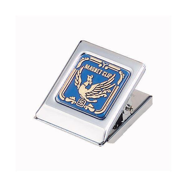 (まとめ) ソニック マグネットクリップ 中 口幅36mm 青 CP-64B 1個 【×30セット】