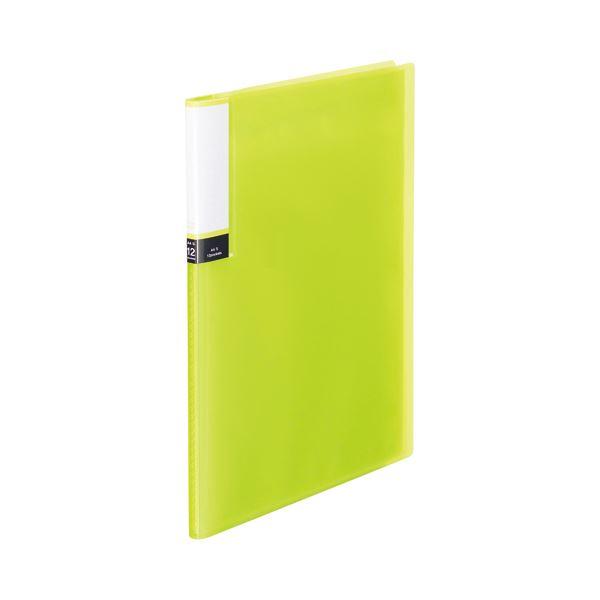 (まとめ) TANOSEE クリアブック(透明表紙) A4タテ 12ポケット 背幅8mm グリーン 1セット(10冊) 【×10セット】