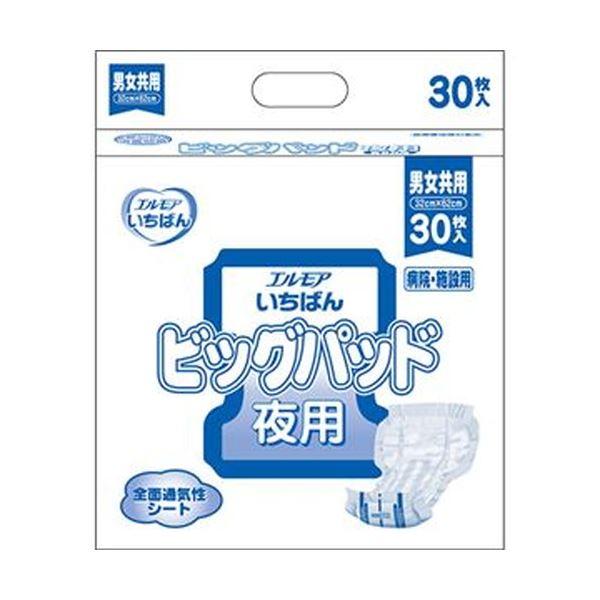 (まとめ)カミ商事 エルモア いちばんビッグパッド 夜用 1パック(30枚)【×10セット】