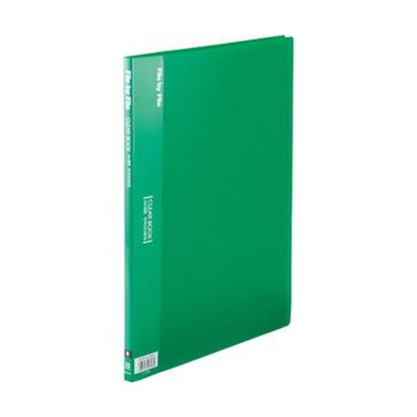 (まとめ)ビュートン クリヤーブック A4タテ10ポケット 背幅9mm グリーン BCB-A4-10GN 1セット(10冊)【×10セット】