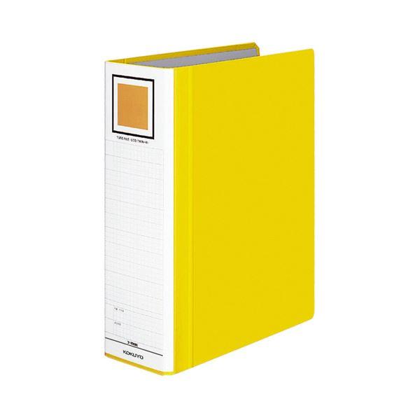(まとめ) コクヨ チューブファイル(エコツインR) A4タテ 800枚収容 背幅95mm 黄 フ-RT680Y 1冊 【×10セット】