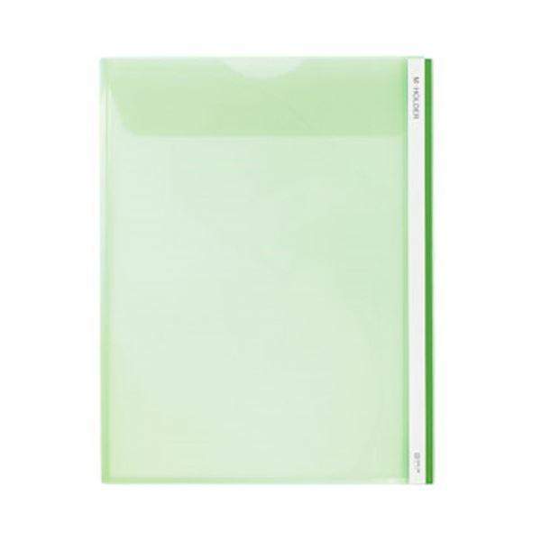 (まとめ) キングジム Mホルダー A4タテ 緑フタ付 733 1セット(5枚) 【×10セット】