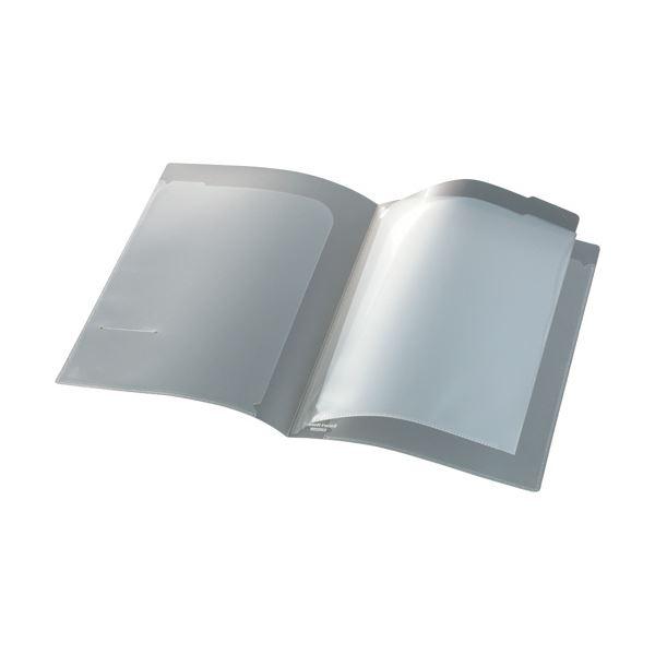 NSH-A4-4C 4ポケット 1冊 ビュートン スマートホルダーA4(見開きA3) (まとめ) クリヤー 【×50セット】