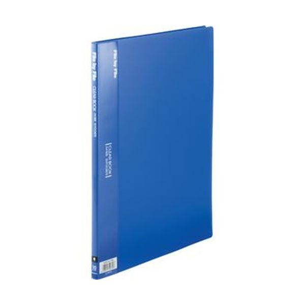 (まとめ)ビュートン クリヤーブック A4タテ10ポケット 背幅9mm ブルー BCB-A4-10B 1セット(10冊)【×10セット】