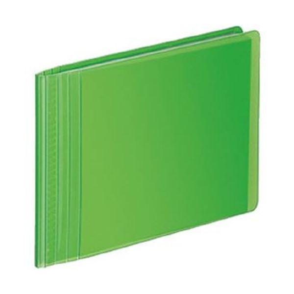 (まとめ)コクヨ フォトアルバム(ノビータ)1段 E・Lサイズ 80枚収容 ライトグリーン ラ-NA80Lg 1セット(10冊)【×3セット】