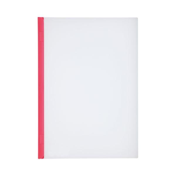 (まとめ)LIHITLAB スライドバーファイル G1720-3 赤 10冊【×30セット】